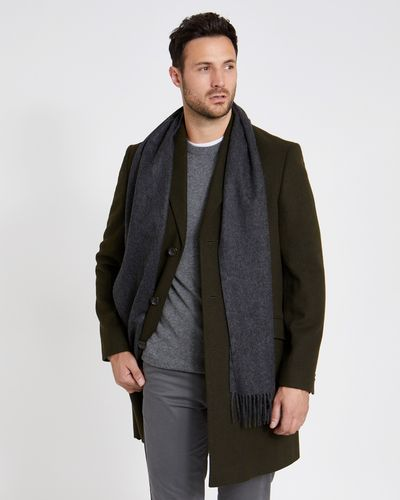 Paul Costelloe Living Charcoal Cashmere Scarf