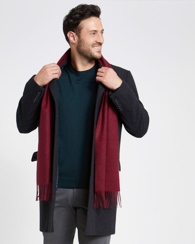 Paul Costelloe Living Burgundy Cashmere Scarf