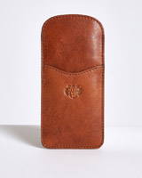 tan Paul Costelloe Living Leather Reading Glasses Case