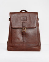 brown Paul Costelloe Living Leather Rucksack