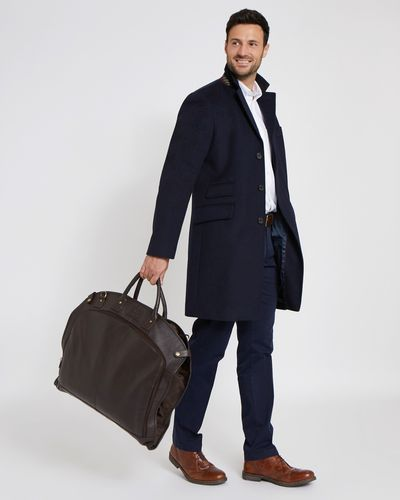 Paul Costelloe Living Brown Leather Suit Carrier