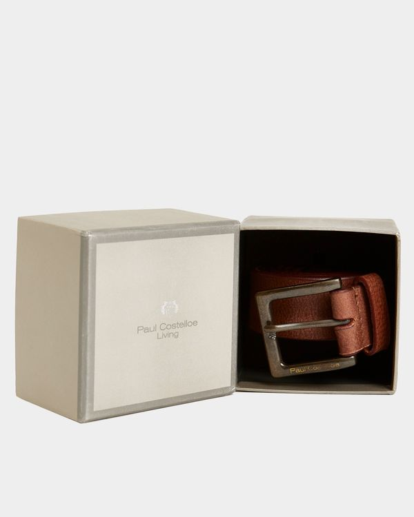 Paul Costelloe Living Casual Leather Brown Belt