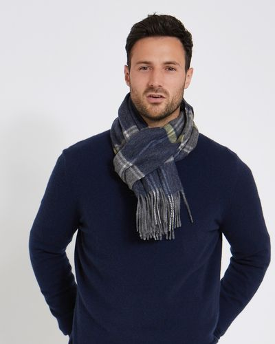 Paul Costelloe Living Green Wool Check Scarf