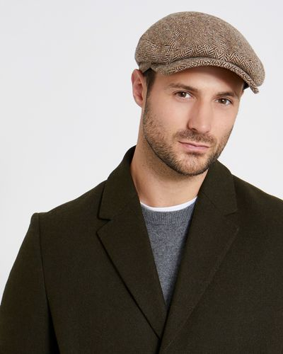 Paul Costelloe Living Donegal Tweed Flat Cap