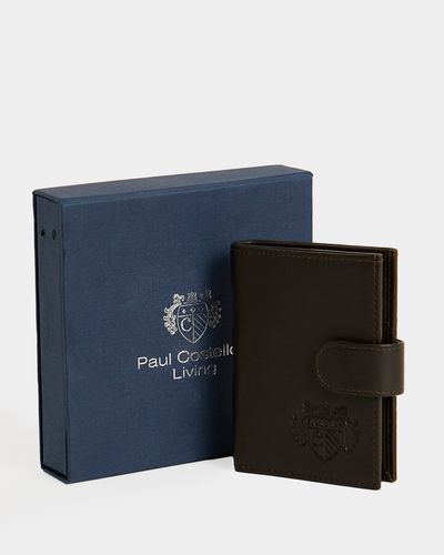 Paul Costelloe Living Brown Pop Up Leather Wallet