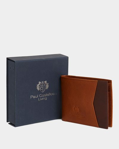 Paul Costelloe Living Tan Boxed Leather Wallet