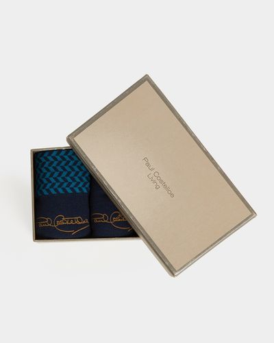 Paul Costelloe Living Teal Boxed Sock - Pack Of 3