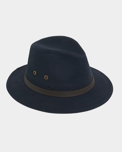 Paul Costelloe Living Navy Cotton Ambassador Hat thumbnail