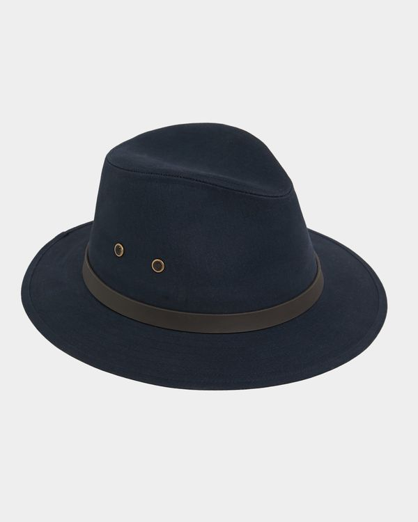 Paul Costelloe Living Navy Cotton Ambassador Hat