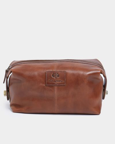 Paul Costelloe Living Tan Leather Washbag