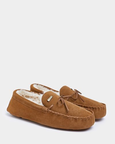 Paul Costelloe Living Boxed Suede Mocassin Slippers