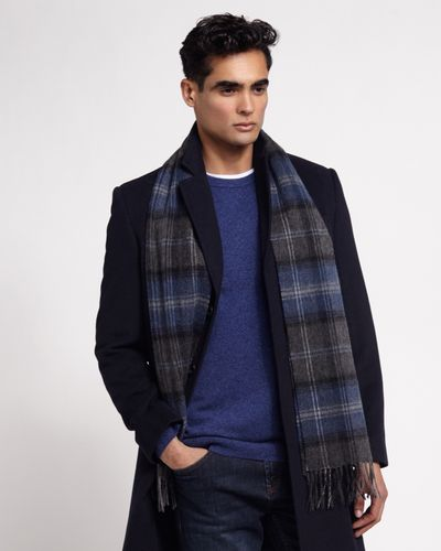 Paul Costelloe Living Costelloe Wool Check Scarf thumbnail