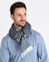 blue Paul Costelloe Living Block Stripe Scarf
