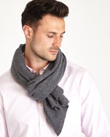 grey Paul Costelloe Living Cashmere Blend Scarf