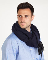 navy-grey Paul Costelloe Living Navy/Grey Scarf