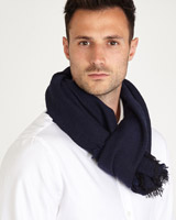 navy Paul Costelloe Living Navy Solid Scarf