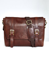 brown Paul Costelloe Living Leather Messenger Bag