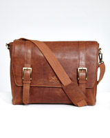 tan Paul Costelloe Living Leather Messenger Bag
