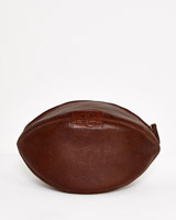 tan Paul Costelloe Living Rugby Leather Washbag