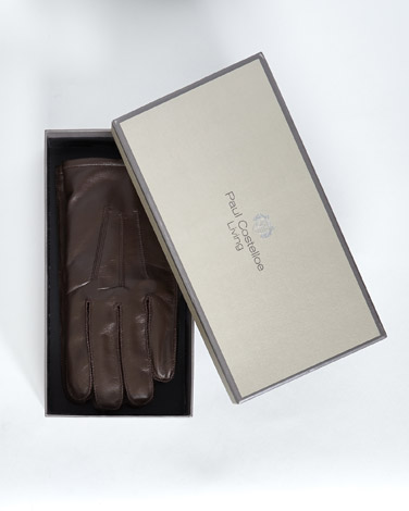 brownPaul Costelloe Living Brown Boxed Leather Gloves