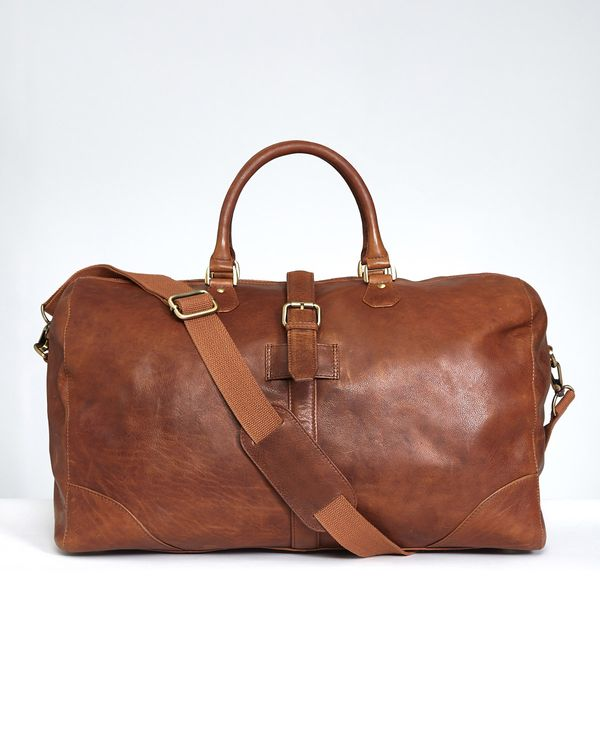 Paul Costelloe Living Tan Leather Holdall
