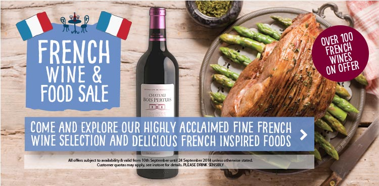 French wine and food sale